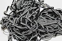 Т/О ромбик 6мм (50м) черный+белый, фото 1