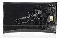 Небольшой лаковый стильный женский кошелек с кожи высокого качественный ALBERTO FELINI art. E1930-3981Z черный