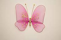 Бабочки декоративные среднего размера 13*13 см розовый крем