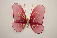 Бабочки декоративные среднего размера 13*13 см марсаловое дуновение