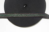 Т/О зигзаг 20мм (50м) черный+зеленый+золото  , фото 1