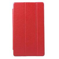 Чехол Tri-fold Silk Texture для Huawei MediaPad M3 8.4 красный