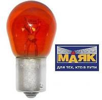"""Лампа 12V P12W цоколь BA15S ОРАНЖЕВАЯ  """"МАЯК"""""""