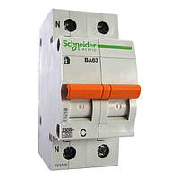 Автоматический выключатель Schneider Electric ВА63 Домовой, 40А, 1-полюсный + нейтраль 11217