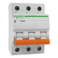 Автоматический выключатель Schneider Electric ВА63 Домовой, 6А, 3-полюсный 11221