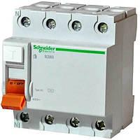 Устройство защитного отключения (УЗО) Schneider Electric ВД63 Домовой, 40А, 30мА, 4-полюсный 11463