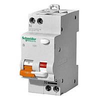 Дифференциальный автоматический выключатель Schneider Electric АД63 Домовой, 16А, 30мА, 1-полюс + нейтраль