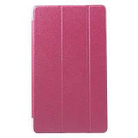 Чехол Tri-fold Silk Texture для Huawei MediaPad M3 8.4 розовый