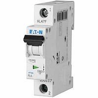 Автоматический выключатель PL4 Eaton, 6А, 1-полюсный PL4-C6/1
