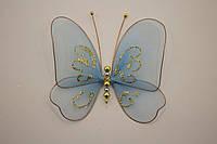 Бабочки декоративные среднего размера 13*13 см голубая дымка
