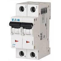Автоматический выключатель PL4 Eaton, 6А, 2-полюсный PL4-B6/2