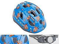 Шлем Mirage, синий с рыбками, размер 48-54 cm