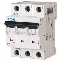 Автоматический выключатель PL4 Eaton, 6А, 3-полюсный PL4-B6/3