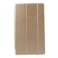 Чехол Tri-fold Silk Texture для Huawei MediaPad M3 8.4 золотой