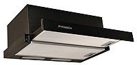 Pyramida TL-60 black (600 мм.) встраиваемая, кухонная, телескопическая вытяжка, черная эмаль, фото 1