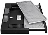 Pyramida TL-60 black (600 мм.) встраиваемая, кухонная, телескопическая вытяжка, черная эмаль, фото 2