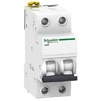 Автоматический выключатель Schneider Electric iK60N, 1А, кривая C, 2-полюсный A9K24201