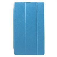 Чехол Tri-fold Silk Texture для Huawei MediaPad M3 8.4 голубой