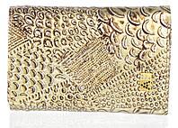 Компактный лаковый стильный женский кошелек с кожи высокого качественный ALBERTO FELINI art.E1801-3861Z золото, фото 1