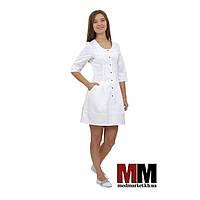 Медицинский халат женский Венеция белый №60