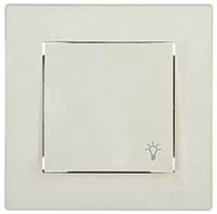 Выключатель кнопочный с символом свет Asfora Schneider Electric (EPH0900123)