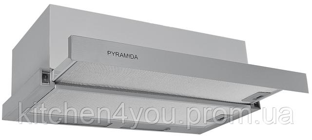 Pyramida TL-60 inox (600 мм.) встраиваемая, кухонная, телескопическая вытяжка, нержавеющая сталь