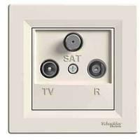 Розетка TV-R-SAT концевая 1 dB Asfora