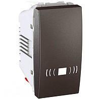 Выключатель одноклавишный кнопочный, тип «звонок» Unica 10А MGU3.106.12C