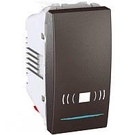Выключатель одноклавишный кнопочный с подсветкой, тип «звонок» Unica 10А MGU3.106.12CN