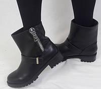 Стильные чёрные ботинки с массивным замком, фото 1