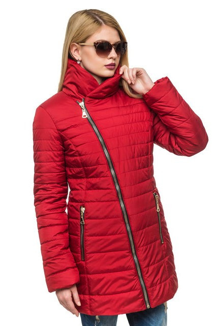 Стеганная зимняя куртка с интересным фасоном р.44-54