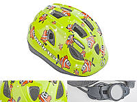 Шлем Mirage, зеленый с рыбками, размер 48-54 cm