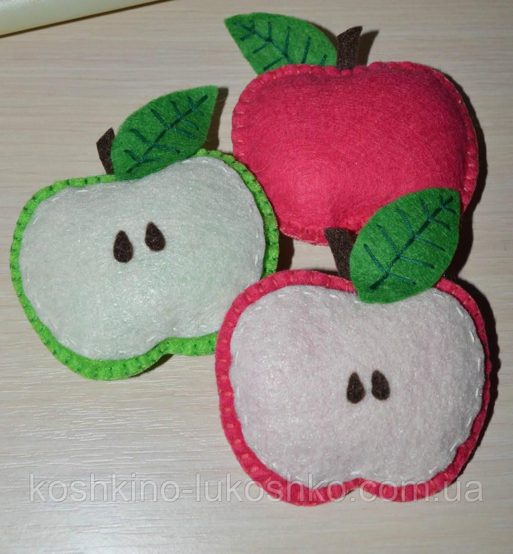 яблоко фетровое