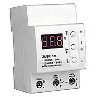 Однофазное реле контроля напряжения ZUBR D50, 50А