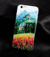 Чехол-накладка для Iphone 6 / 6s с картинкой Дом в горах