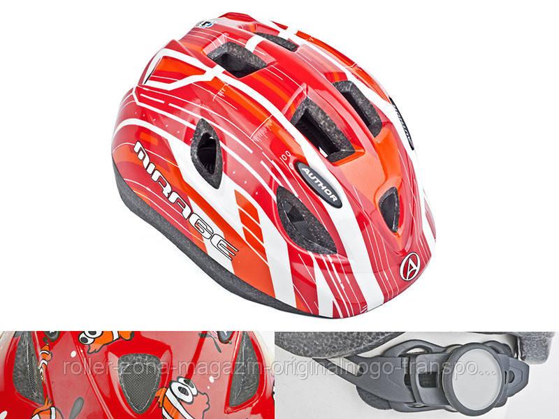 Шлем Mirage, красно/белый, размер 48-54 cm