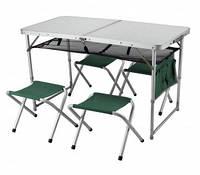 Складной комплект: стол TA-21407 + 4 стульчика FS-21124