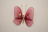 Бабочки декоративные маленькие 10*10 см десерт бордо