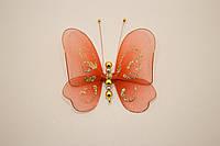 Бабочки декоративные маленькие 10*10 см огненные блики