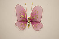 Бабочки декоративные маленькие 10*10 см сиреневое желание