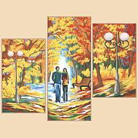 Схема для вышивания бисером Осенняя палитра,полиптих из 3частей РКП-1008
