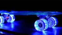 Пенни борд Penny Bord со светящимися колесами, реальное фото