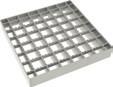 Решетка сетчатая антискользящая для трапа 142 с верхней частью 200х200 мм. из нержавеющей стали AISI 304