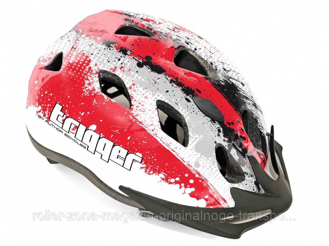 Шлем Trigger 153, серо/бело/красный, размер 54-58 cm