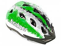Шлем Trigger 153, серо/бело/зеленый, размер 54-58 cm