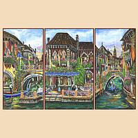 Схема для вышивания бисером Венецианские мотивы, полиптих из 3 частей РКП-1009