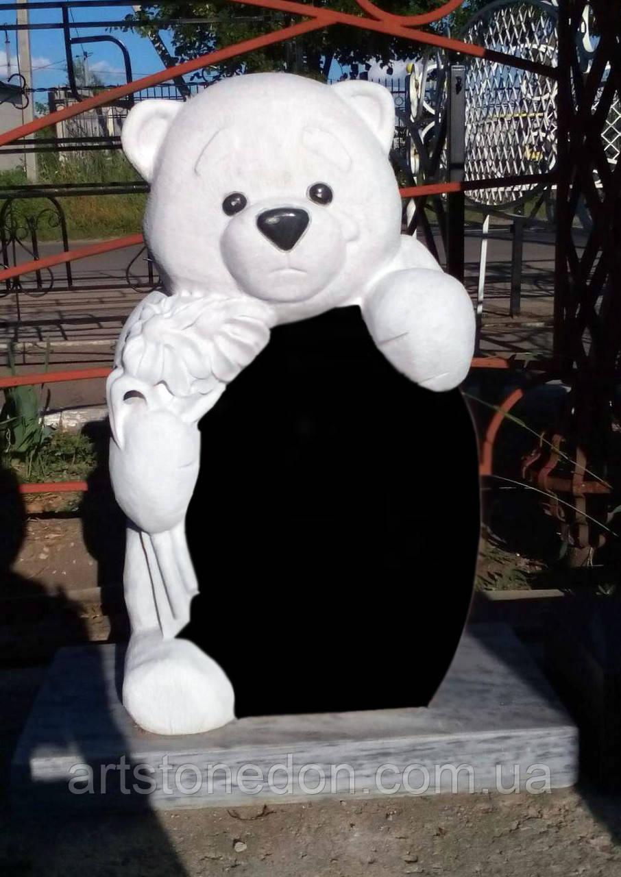 Памятник детский Скорбящий мишка