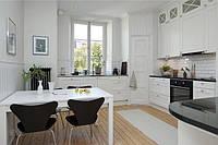 П-образная планировка кухни в скандинавском стиле