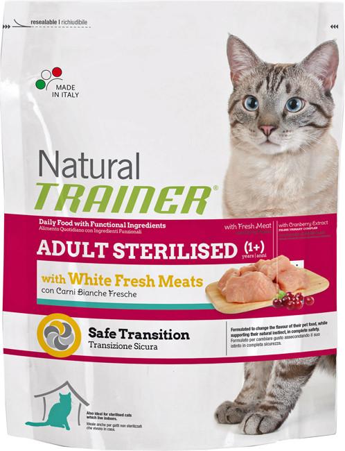 Корм для стерилизированных кошек с белым мясом Trainer Natural Sterilised White Meat