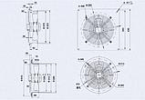 Вентилятор осьовий Weiguang YWF-2E-300-B-92/35-B на металевій пластині, фото 2